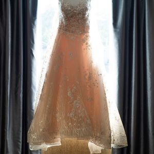 Martin Thornburg wedding dress, Blush tone